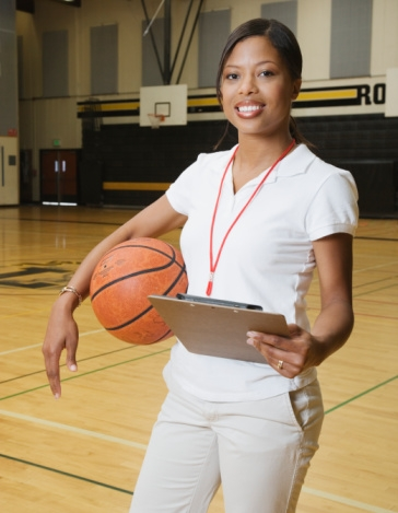 African-American woman basketball coach